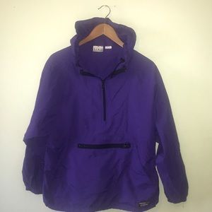 LL Bean New Hooded Rain Pull Over